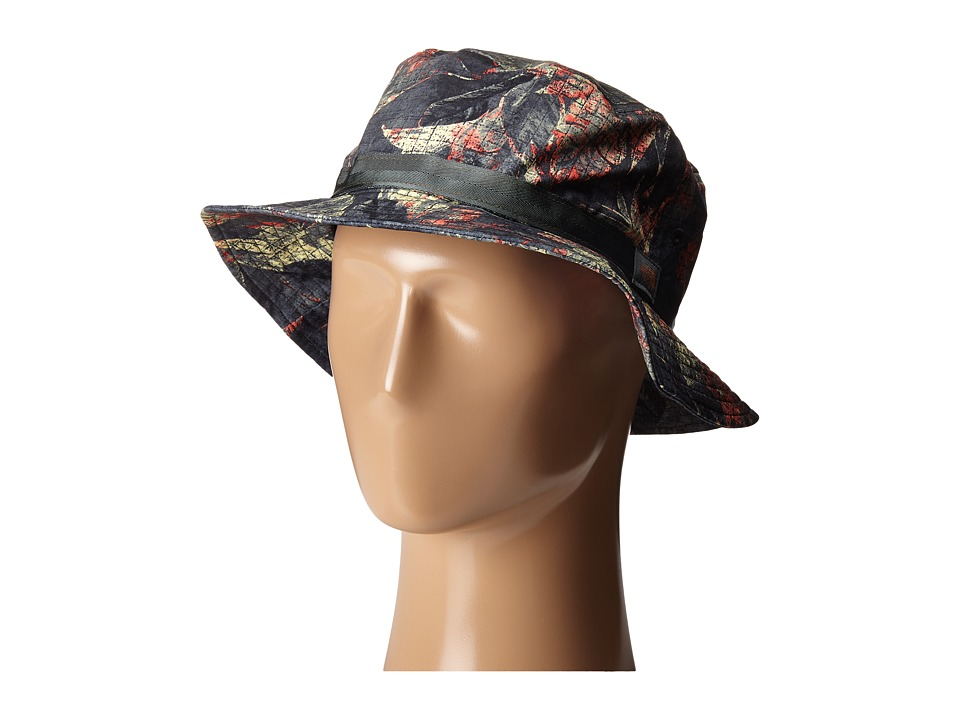 The North Face - Canyon Explorer Hat (Spruce Green Pineapple Palm Print) Bucket Caps