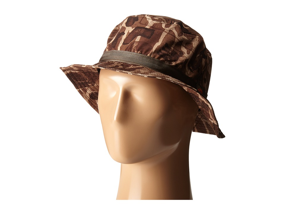 The North Face - Canyon Explorer Hat (Mocha Bisque Gear Print) Bucket Caps