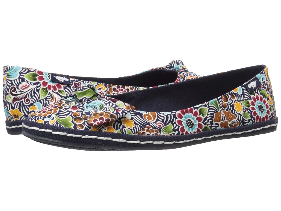Rocket Dog - Whisk (Navy Frida Floral) Women's Flat Shoes