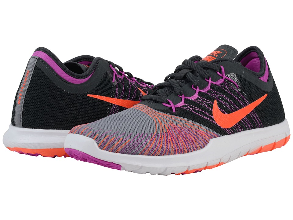 Nike - Flex Adapt TR (Cool Grey/Anthracite/Hyper Violet/Total Crimson) Women's Cross Training Shoes