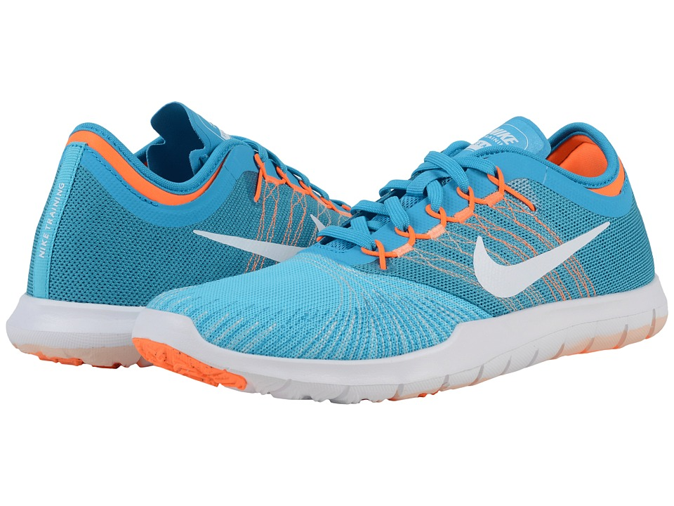 Nike - Flex Adapt TR (Gamma Blue/Blue Lagoon/Total Orange/White) Women's Cross Training Shoes