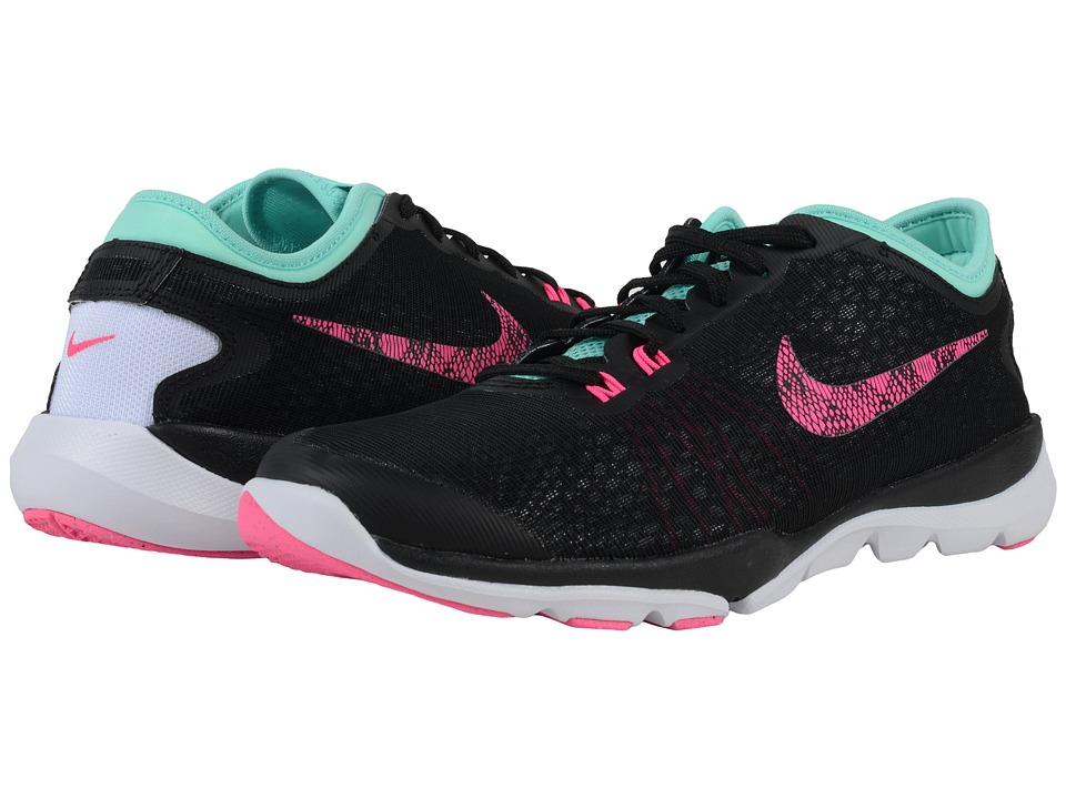 Nike - Flex Supreme TR 4 BTS (Black/Hyper Turquoise/White/Pink Blast) Women's Cross Training Shoes