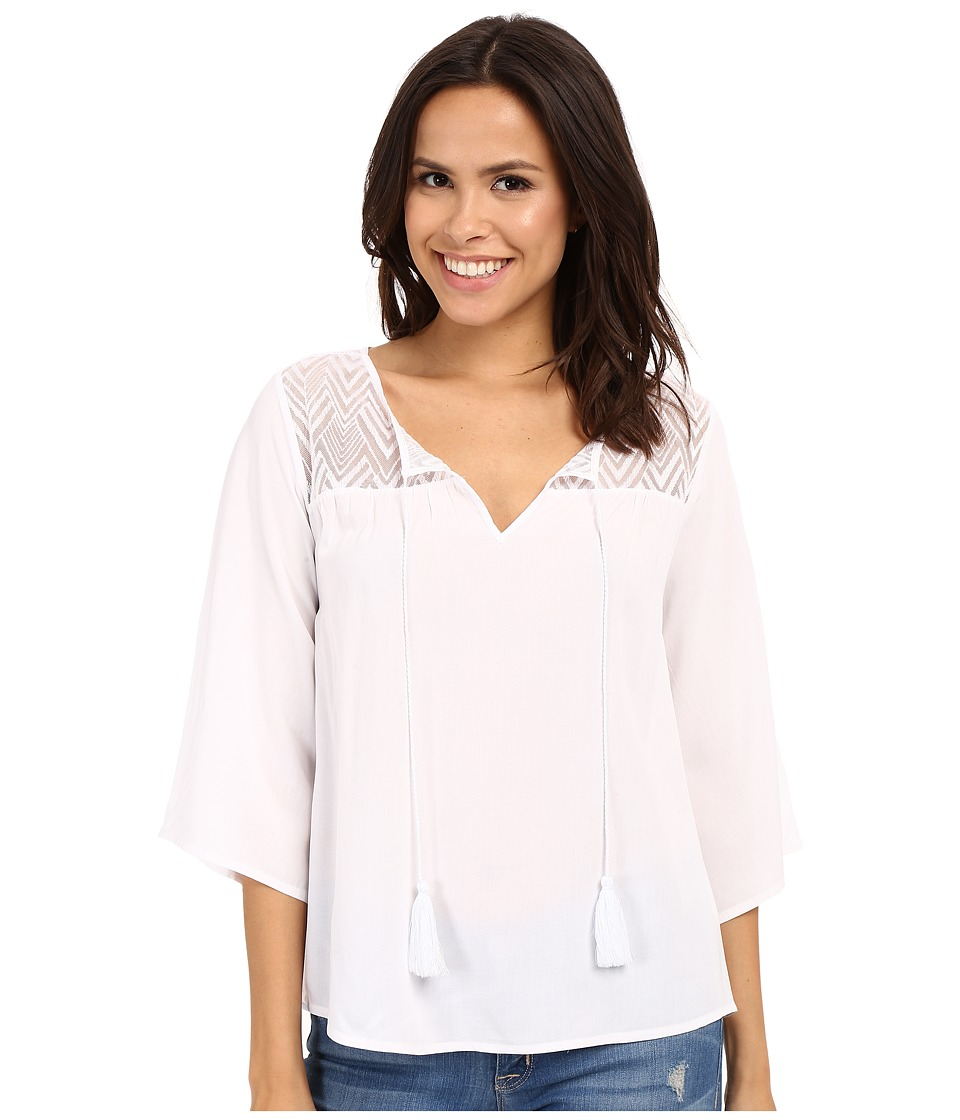 Ariat - Garland Tunic (White) Women's Blouse