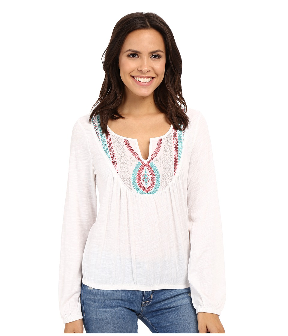 Ariat - Taylor Top (White) Women's Long Sleeve Pullover