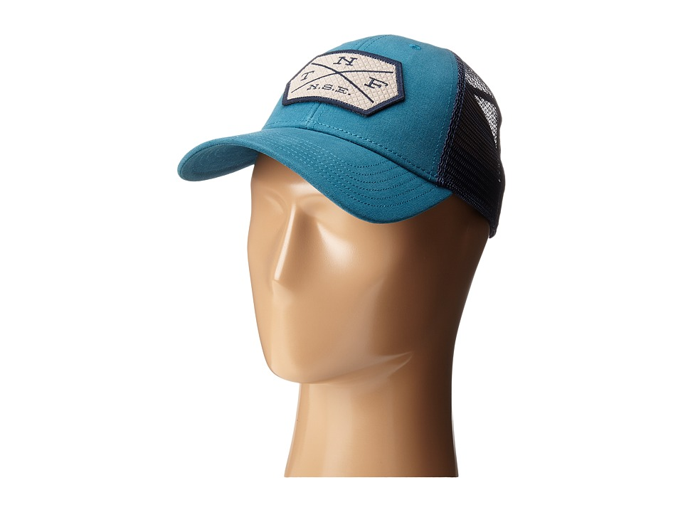 The North Face - Patches Trucker Hat (Blue Coral) Caps