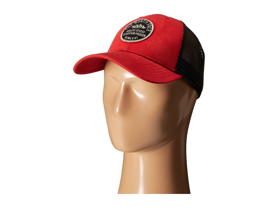 The North Face - Patches Trucker Hat (Pompeian Red) Caps