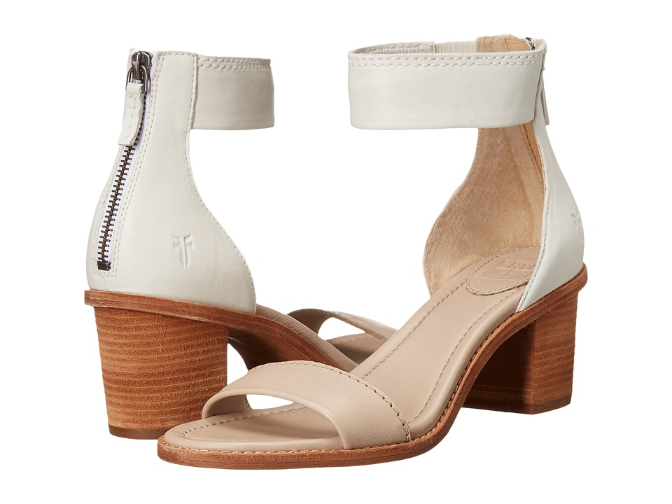 Frye Brielle Back Zip Sandal (Cement Multi) High Heels