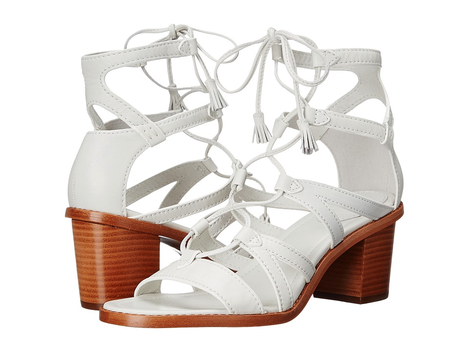 Frye Brielle Gladiator (White Soft Full Grain) High Heels