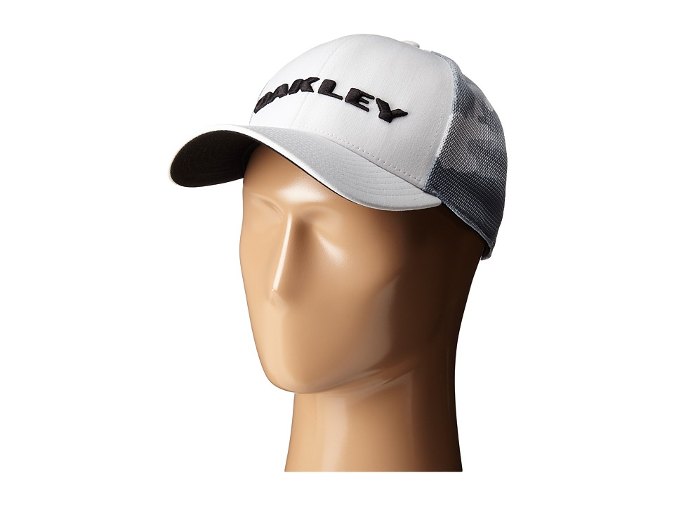 Oakley - Tech Trucker Print Golf Hat (White) Caps