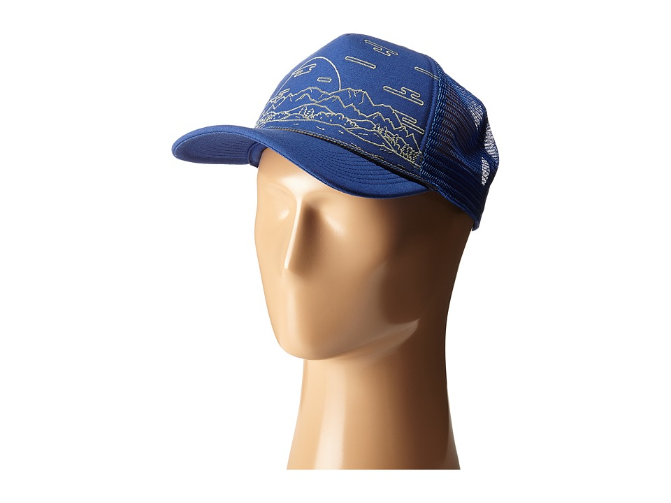 The North Face - Cross Stitch Trucker Hat (Limoges Blue) Baseball Caps