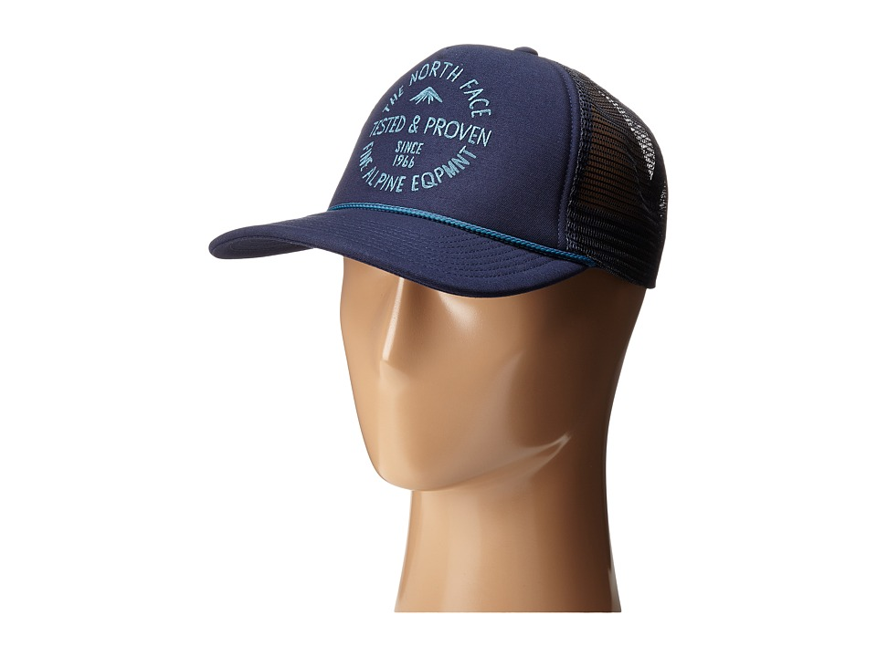 The North Face - Cross Stitch Trucker Hat (Cosmic Blue) Baseball Caps