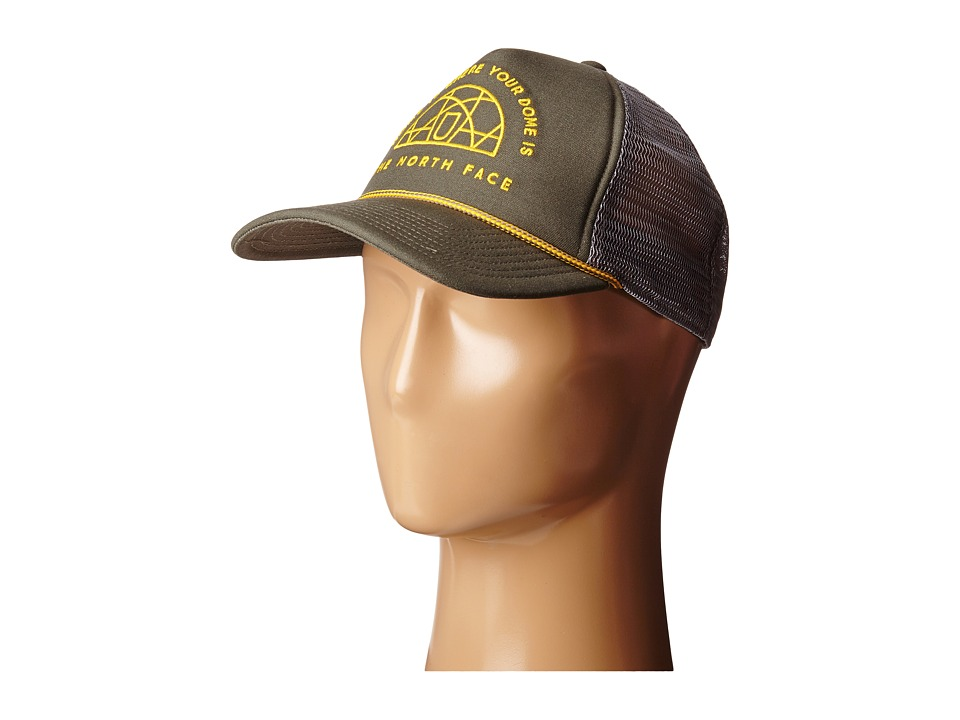 The North Face - Cross Stitch Trucker Hat (Weimaraner Brown) Baseball Caps