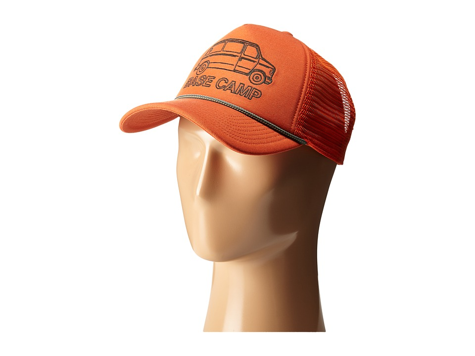 The North Face - Cross Stitch Trucker Hat (Papaya Orange) Baseball Caps