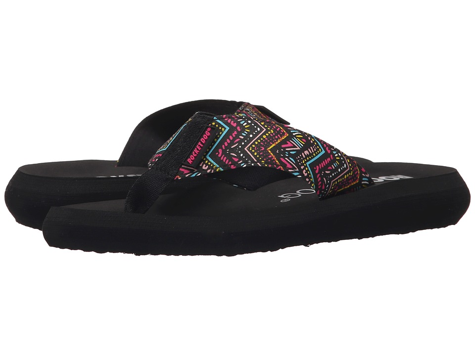 Rocket Dog - Spotlight Comfort (Black Del Mar) Women's Sandals