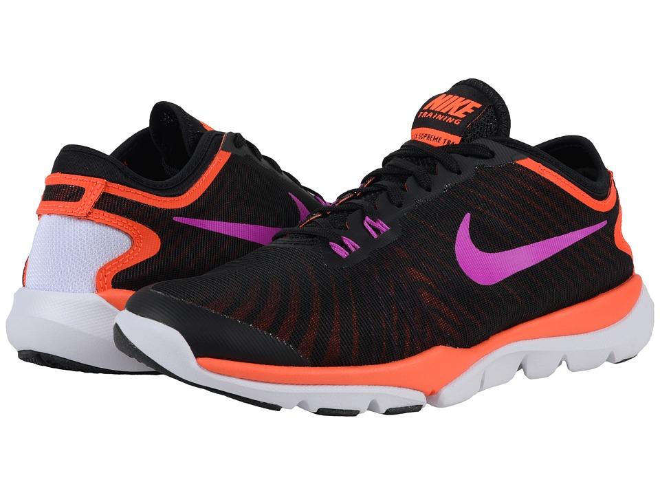 Nike - Flex Supreme TR4 (Black/Total Crimson/White/Hyper Violet) Women's Cross Training Shoes