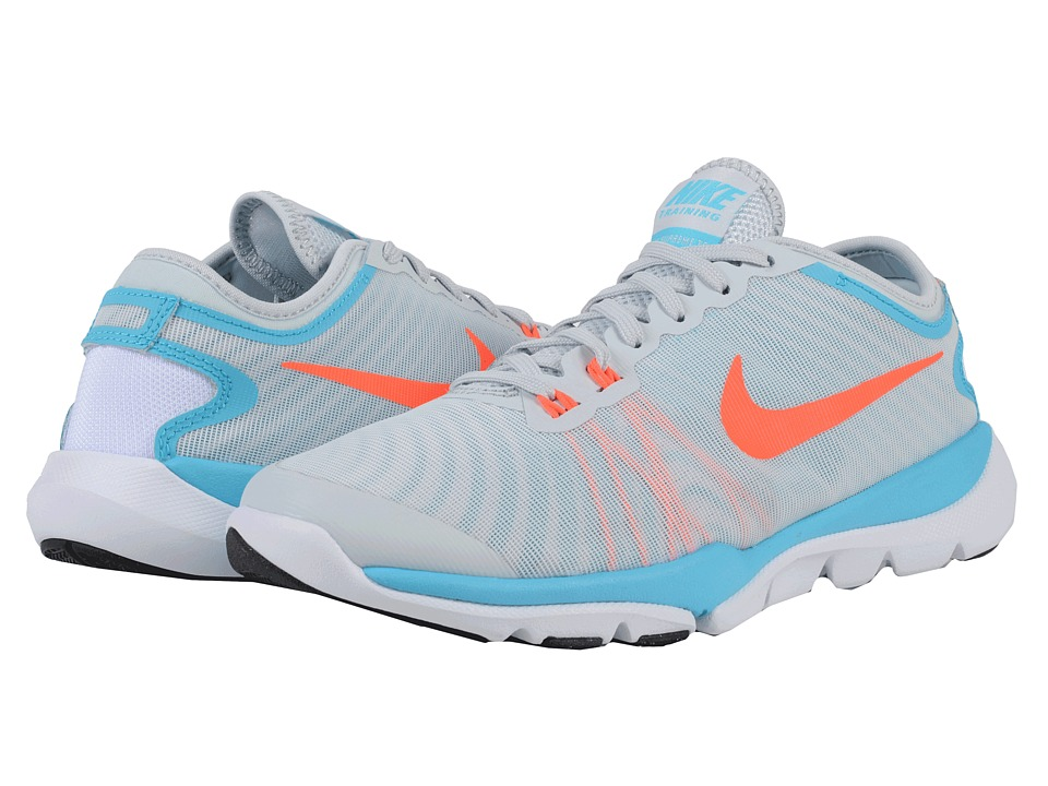 Nike - Flex Supreme TR4 (Pure Platinum/gamma Blue/White/Total Crimson) Women's Cross Training Shoes