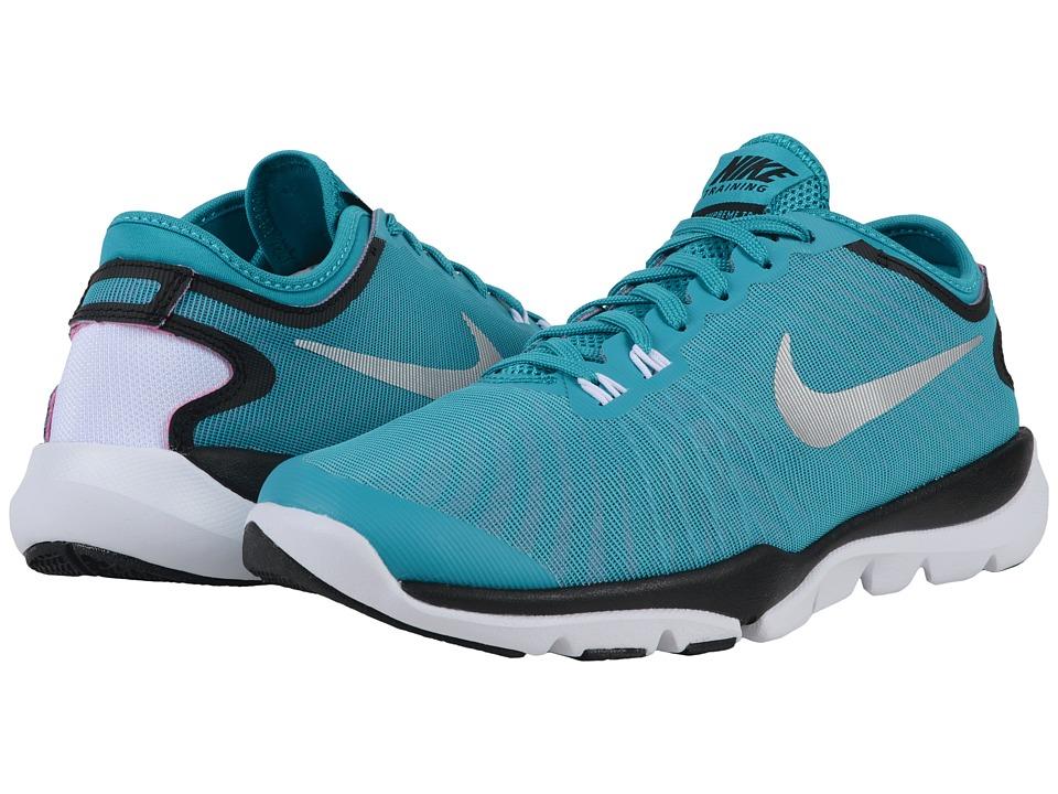 Nike - Flex Supreme TR4 (Energry/Black/Pink Blast/Metallic Silver) Women's Cross Training Shoes