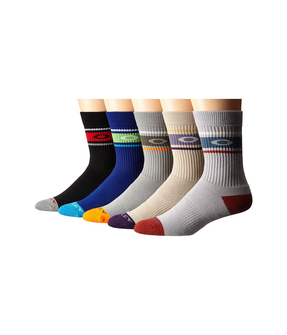 Oakley - Performance Basic 5-Pack Crew Socks (Miscellaneous) Men's Crew Cut Socks Shoes