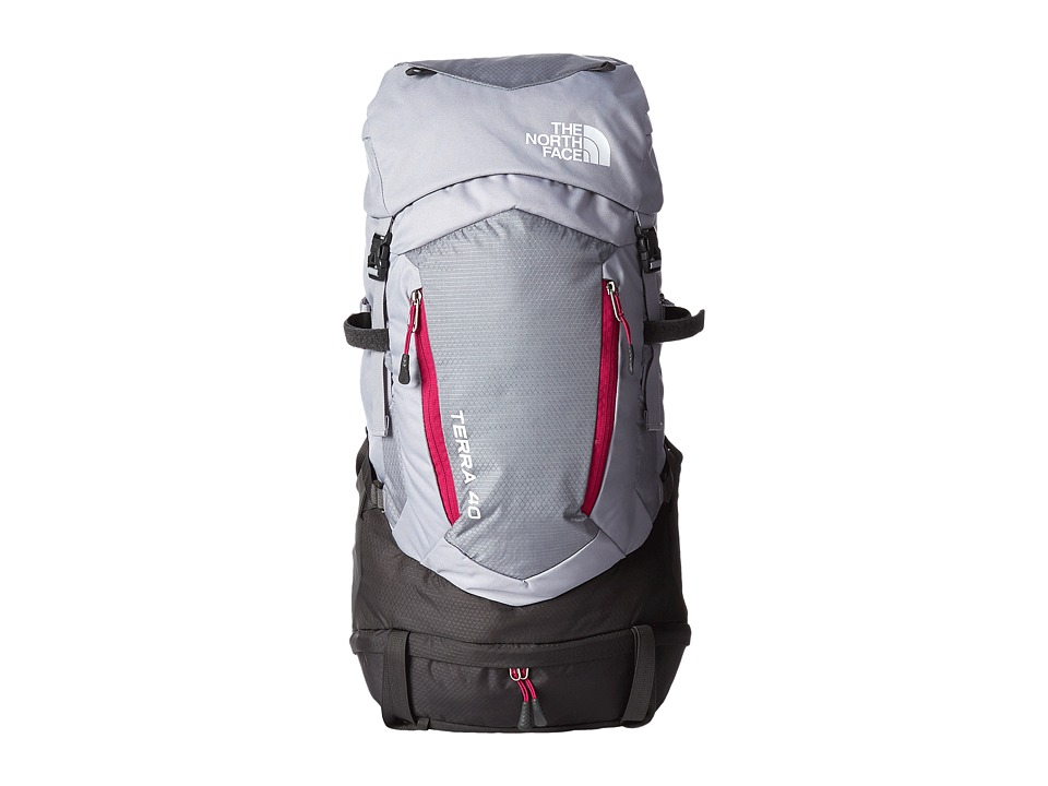 The North Face - Terra 40 (Dapple Grey/Fuchsia Pink) Backpack Bags