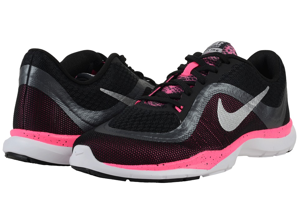 Nike - Flex Trainer 6 BTS (Black/Pink Blast/Metallic Hematite/Metallic) Women's Cross Training Shoes