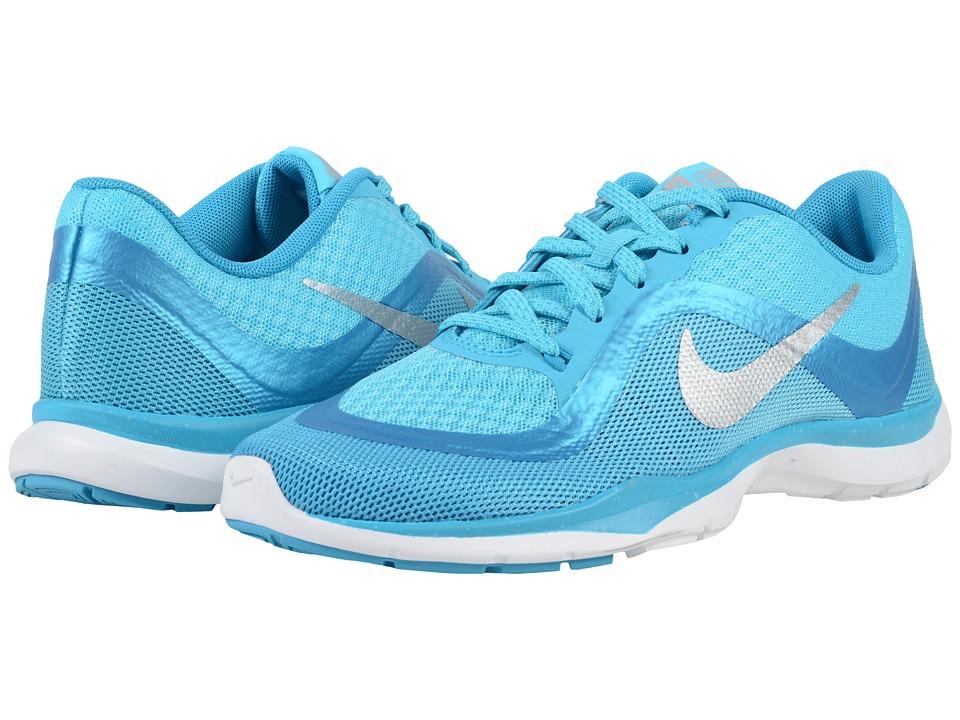 Nike - Flex Trainer 6 Print (Gamma Blue/Blue Lagoon/White/Metallic Silver) Women's Cross Training Shoes