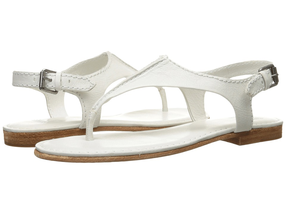 Frye - Carson Seam T (White Soft Vintage Leather) Women's Sandals