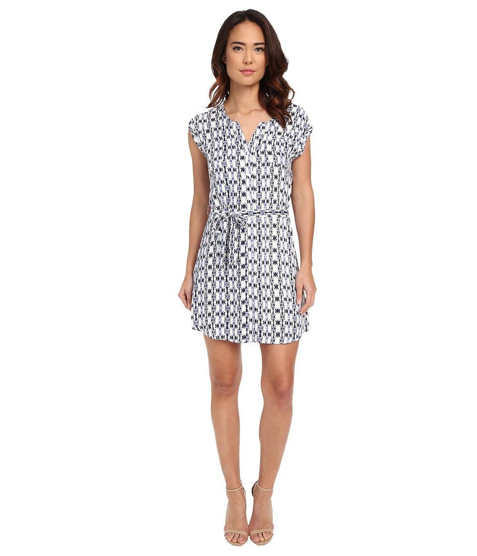 Jack by BB Dakota - Lottie Inkblot Stripe Printed Rayon Crepe Shirtdress (Multi) Women's Dress