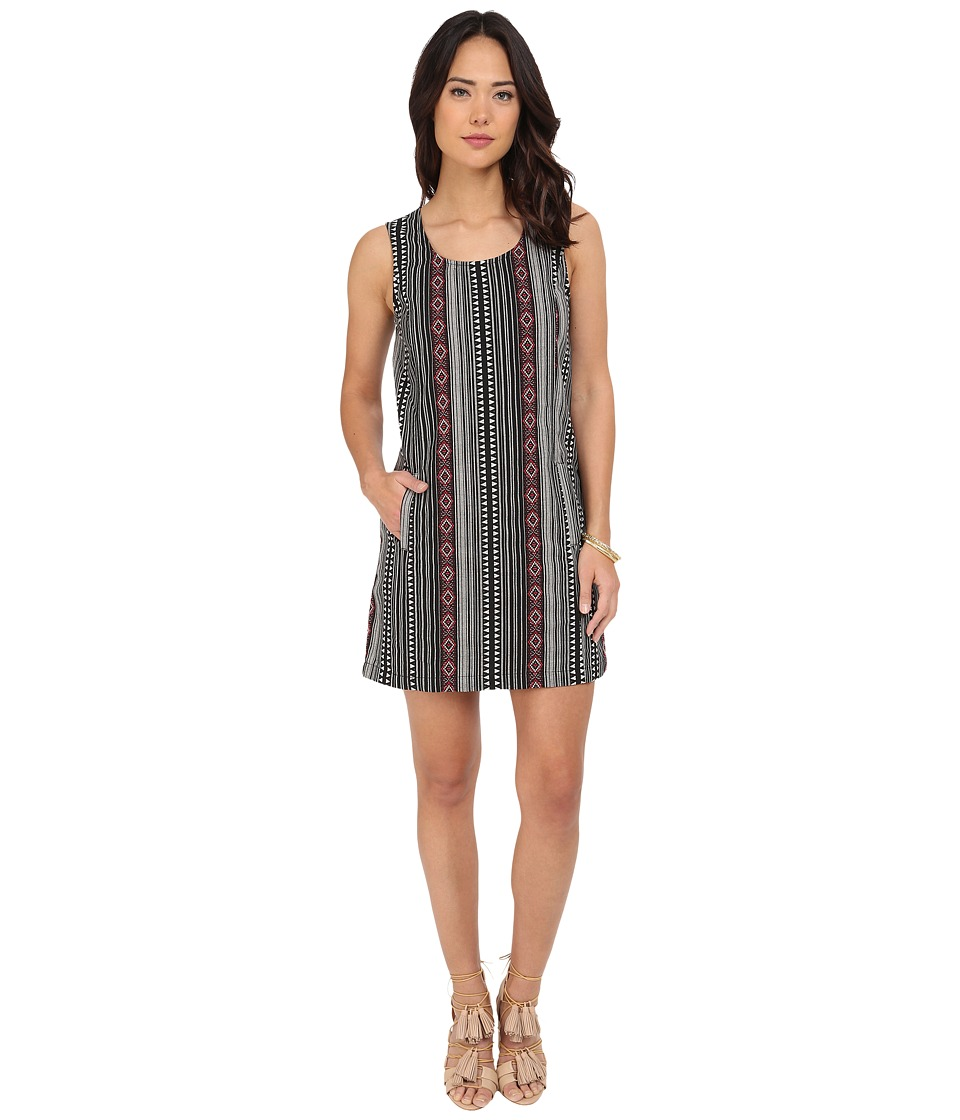 Jack by BB Dakota - Estella Woven Jacquard Shift Dress (Black) Women's Dress