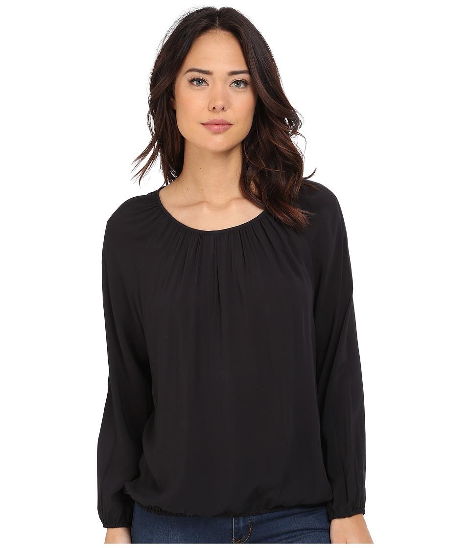 Jack by BB Dakota - Denise Light Rayon Challi Tie Back Top (Black) Women's Clothing