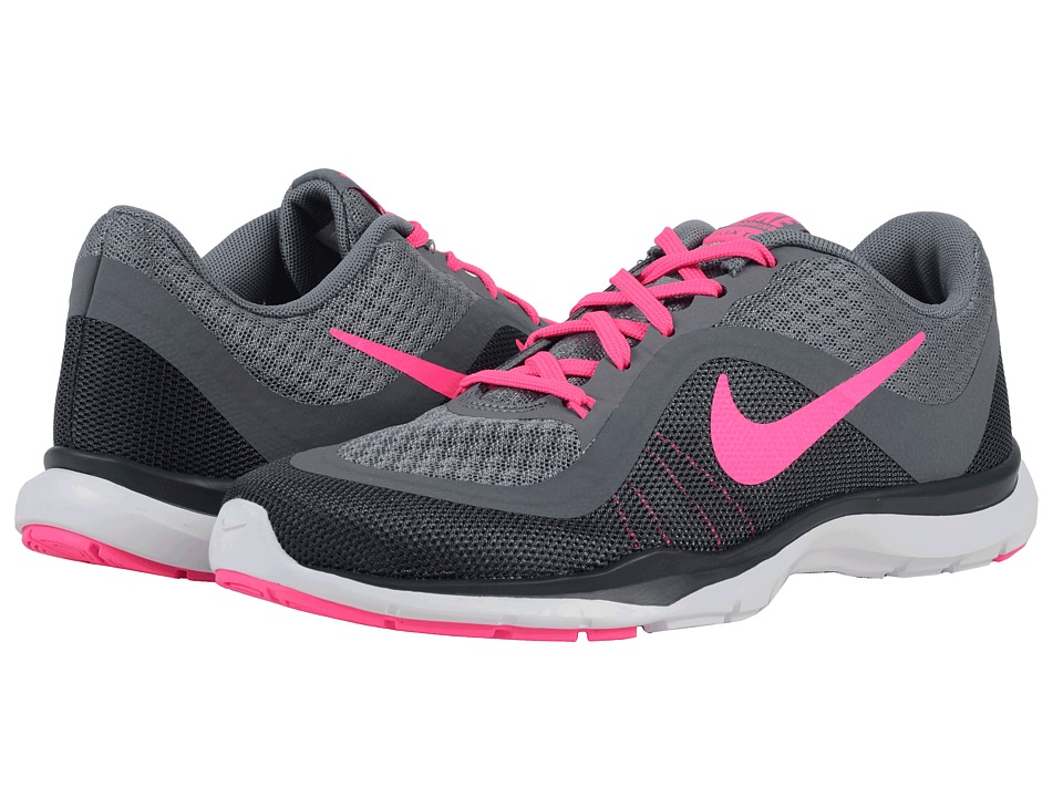 Nike - Flex Trainer 6 (Cool Grey/Dark Grey/Anthracite/Pink Blast) Women's Cross Training Shoes