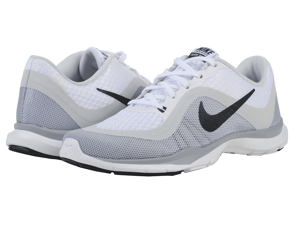 Nike - Flex Trainer 6 (White/Pure Platinum/Wolf Grey/Anthracite) Women's Cross Training Shoes