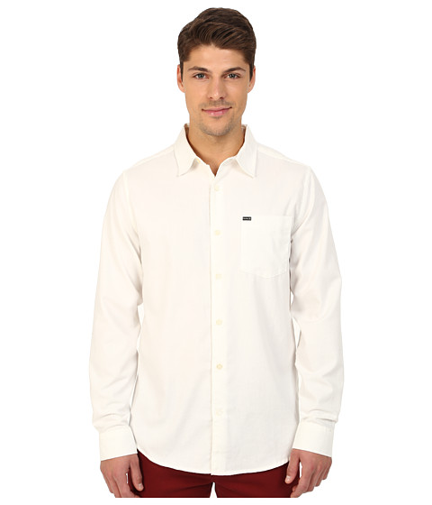 Hurley - L/S One Only 2.0 Woven (White) Men
