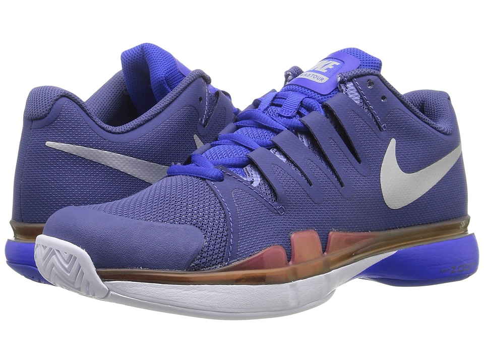 Nike - Zoom Vapor 9.5 Tour (Dark Purple Dust/Racer Blue/Hyper Pink/Metallic SIlver) Women's Tennis Shoes