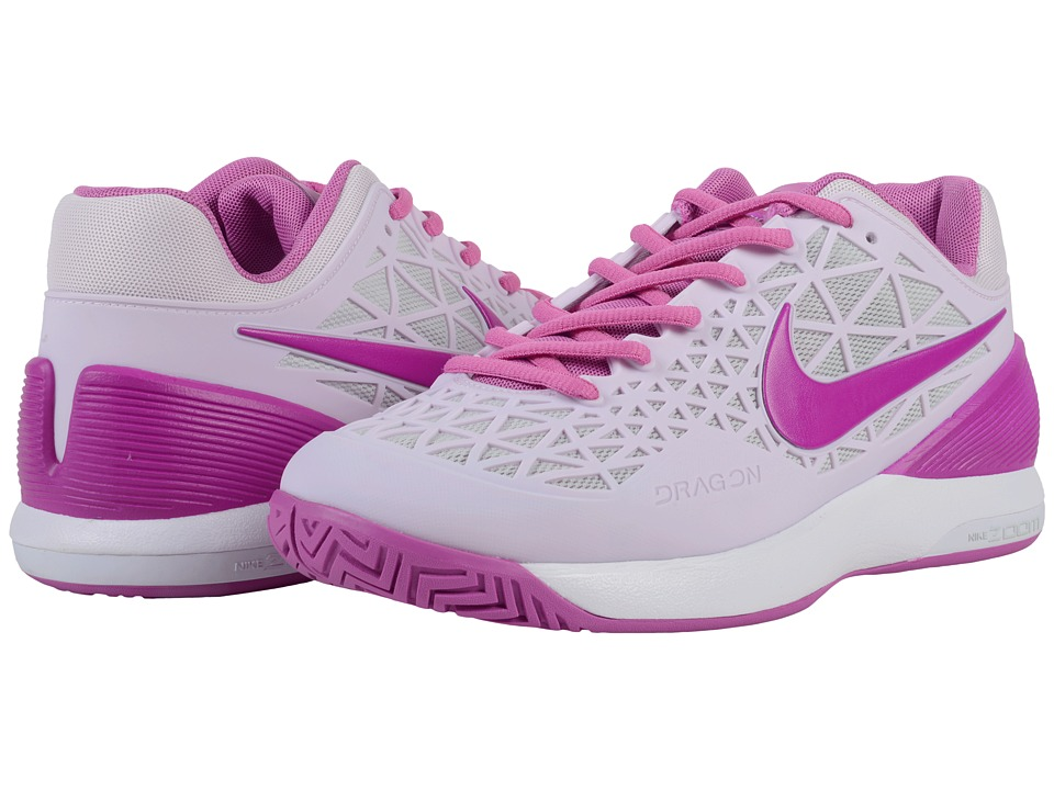 Nike - Zoom Cage 2 (Bleached Lilac/Light Silver/Viola/Hyper Violet) Women's Tennis Shoes