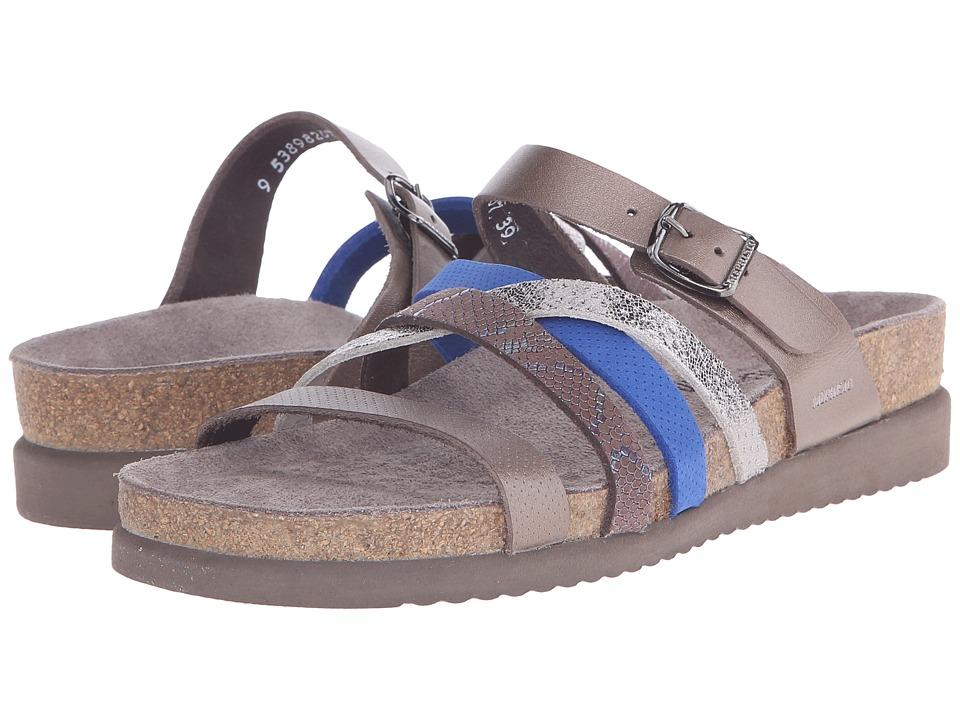 Mephisto - Huleda (Pewter Waxy/Dark Brown Nairobi/Cobalt Blue) Women's Sandals
