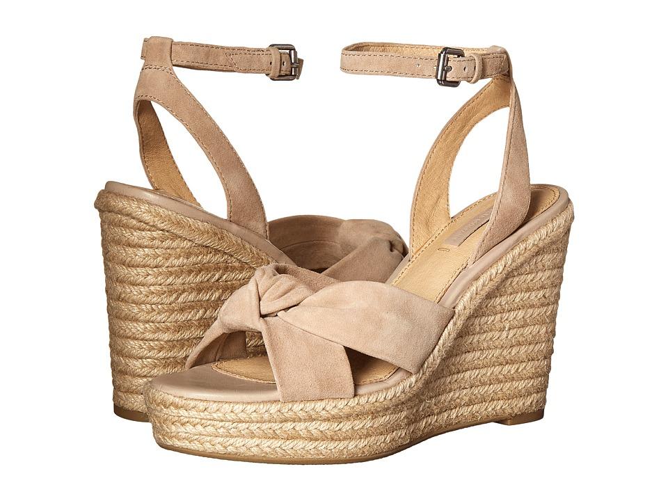 Frye - Charlotte Twist Ankle Sandal (Grey Suede) Women's Wedge Shoes