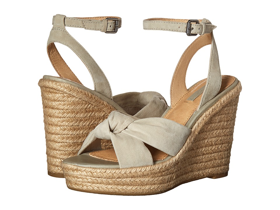 Frye - Charlotte Twist Ankle Sandal (Sage Suede) Women's Wedge Shoes