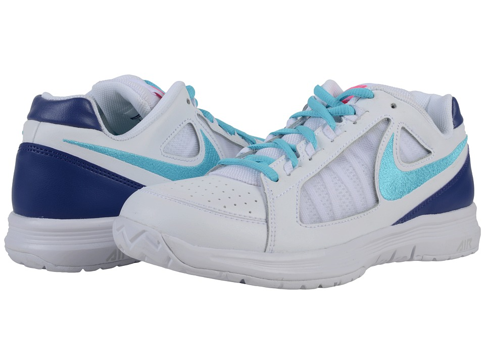 Nike - Air Vapor Ace (White/Dark Purple Dust/Hyper Pink/Gamma Blue) Women's Tennis Shoes
