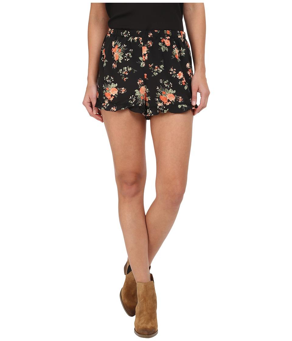 Jack by BB Dakota - Rudie Rose Revival Printed Crepon Ruffle Hem Shorts (Multi) Women's Shorts