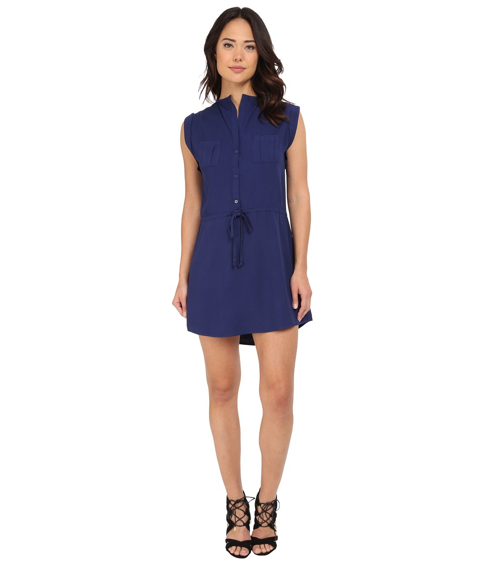 Jack by BB Dakota - Jolene Rayon Challi Drawstring Waist Dress (Navy Blue) Women's Dress