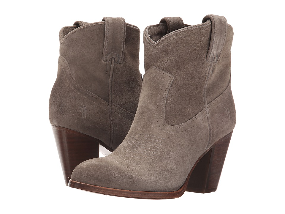 Frye Ilana Short Boot (Dark Grey Oiled Suede) Women