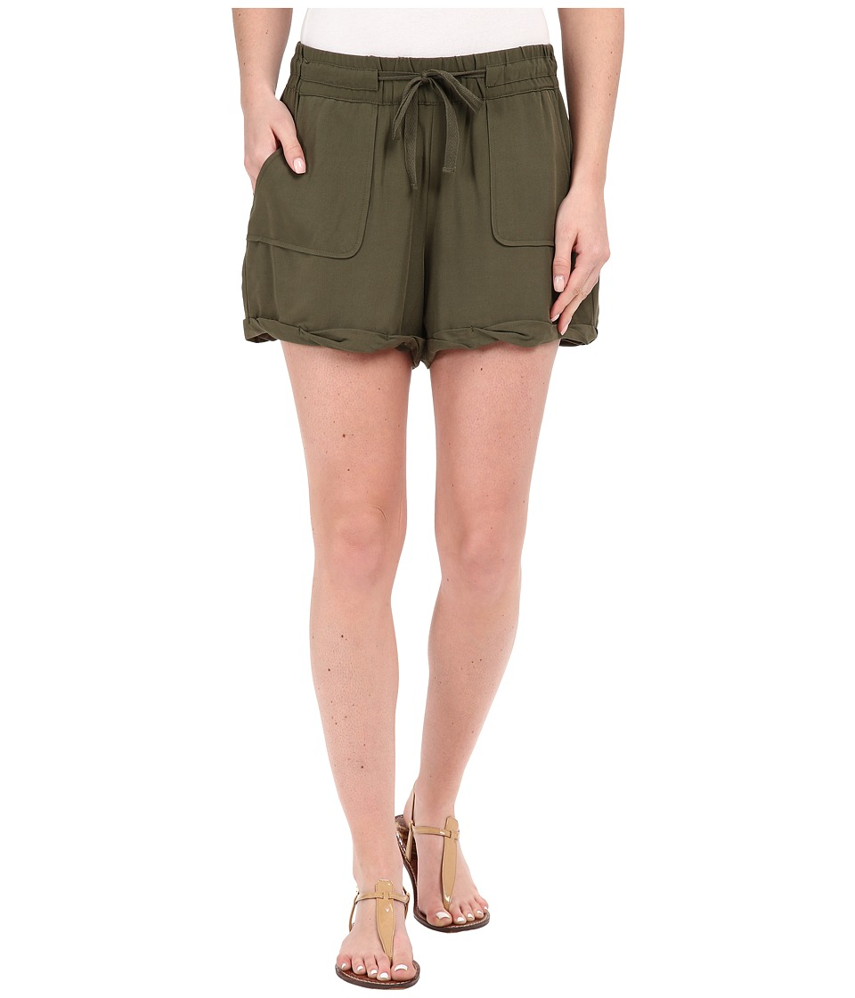Jack by BB Dakota - Mcgee Heavy Rayon Challi Utility Shorts (Utility Green) Women