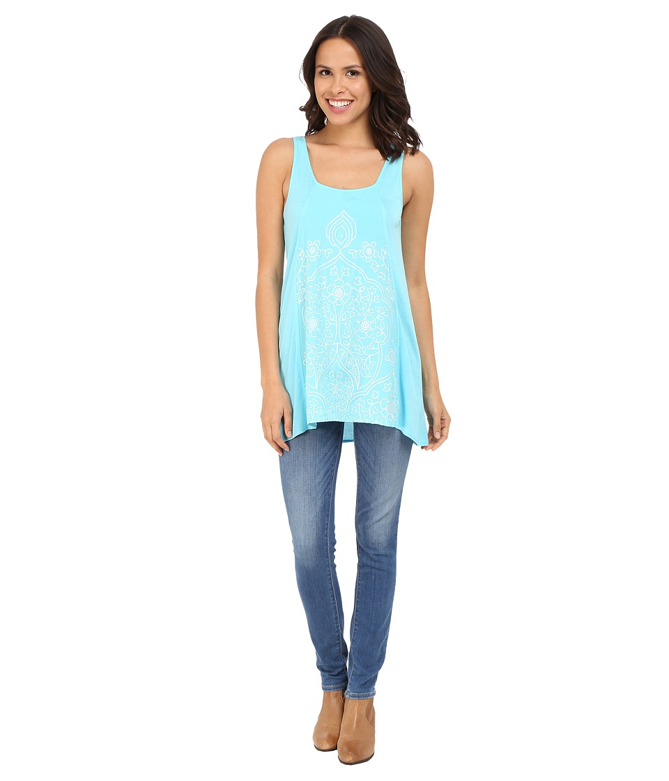 Ariat - Lillian Tank Top (Cenote Aqua) Women's Sleeveless
