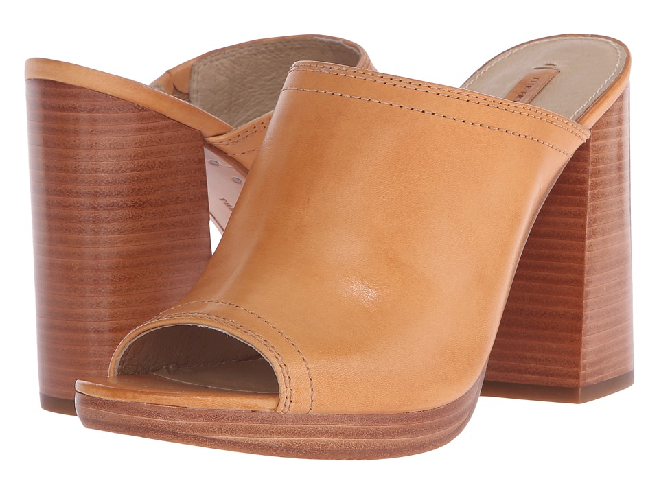 Frye - Karissa Mule (Natural Smooth Full Grain) High Heels