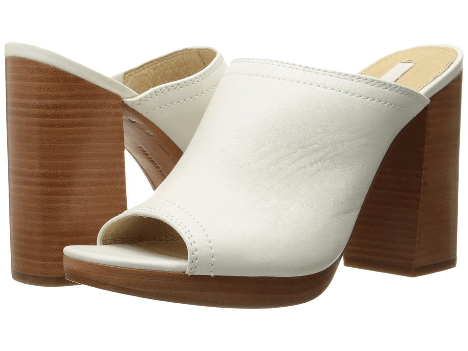 Frye - Karissa Mule (White Smooth Full Grain) High Heels