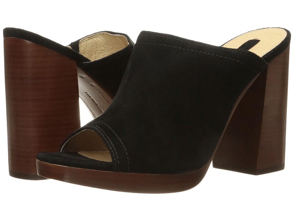 Frye Karissa Mule (Black Suede) High Heels