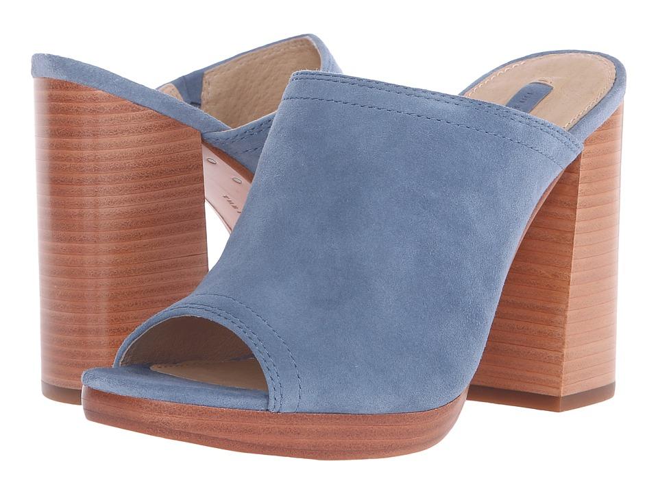 Frye Karissa Mule (Blue Suede) High Heels