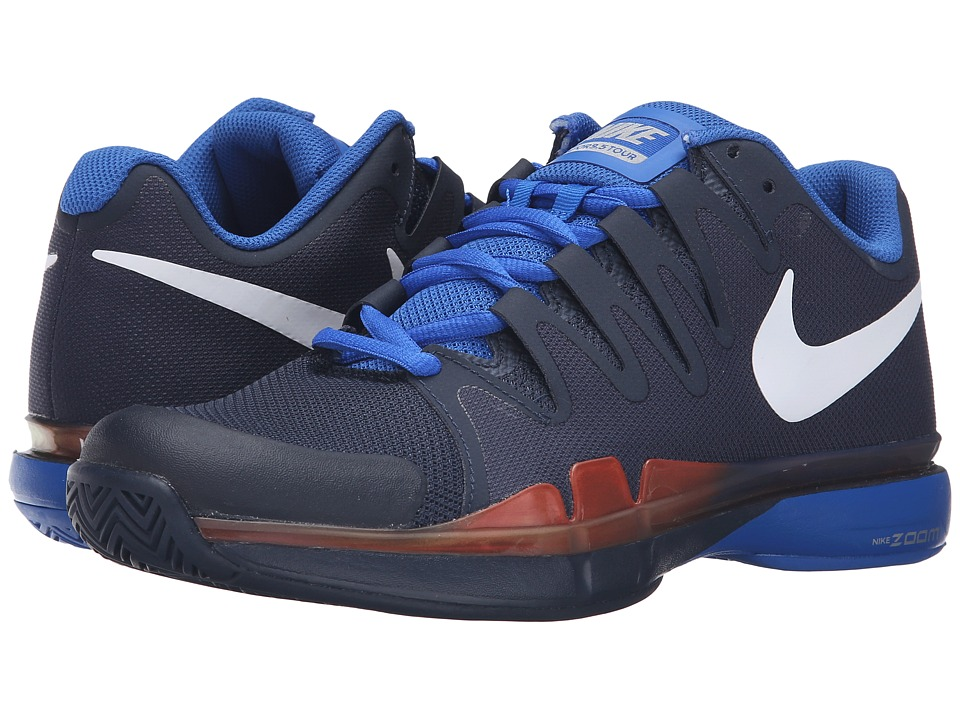 Nike - Zoom Vapor 9.5 Tour (Obsidian/Hyper Cobalt/Total Crimson/White) Men's Tennis Shoes