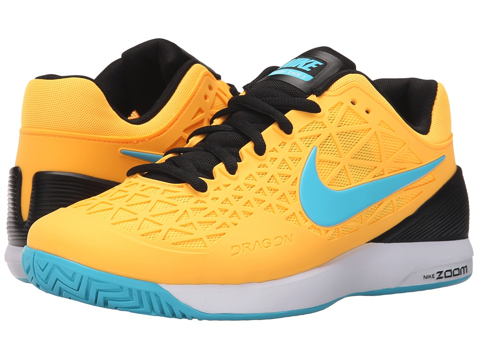 Nike - Zoom Cage 2 (Laser Orange/Black/White/Gamma Blue) Men's Tennis Shoes
