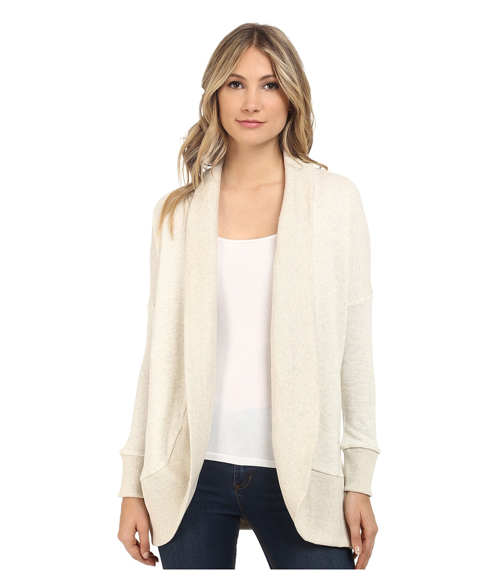 Jack by BB Dakota - Lewis Heathered French Terry and Crochet Back Cocoon Sweater (Heathered Oatmeal) Women's Sweater